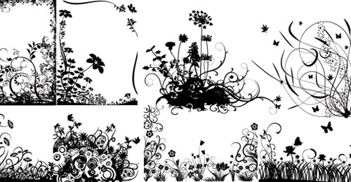 free swirl flower vector