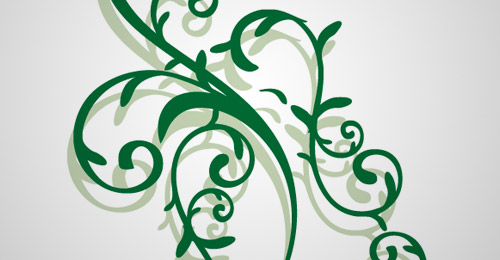 vector floral ornament free