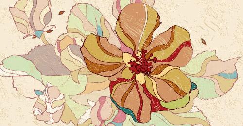 free vintage floral background