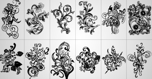 free floral vector pack