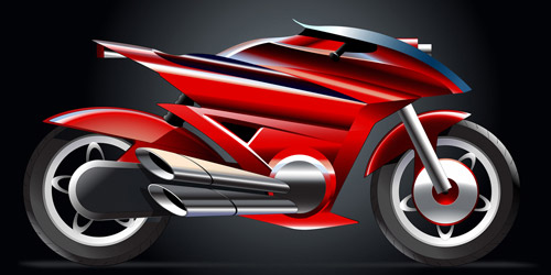 cool motorcycle illustrator