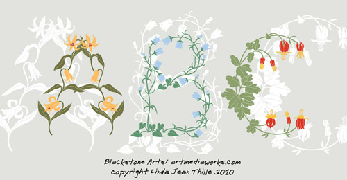 abc vector floral free
