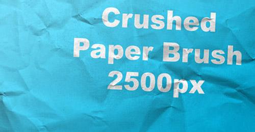 crushed paper brush