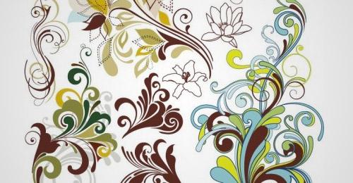 free vintage floral vector designs