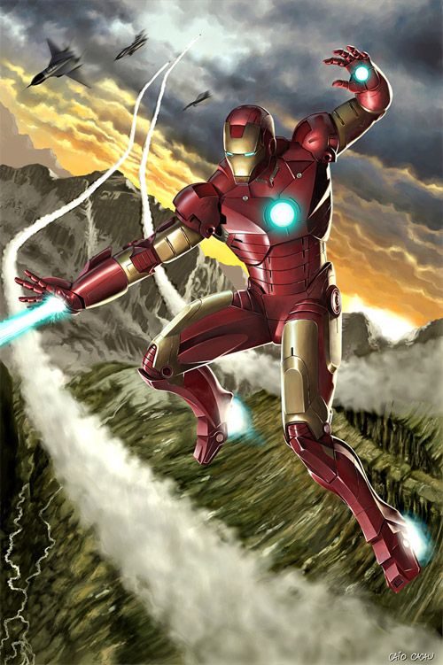 iron man fire