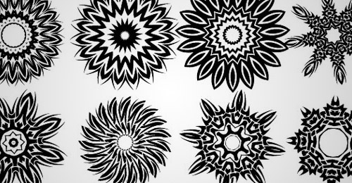 tribal floral vector