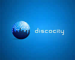 disco city blue logo