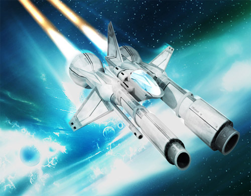 spaceship fighter illustration