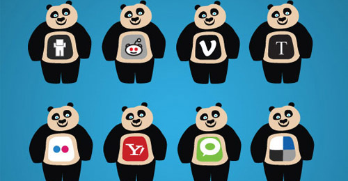 panda social network icons
