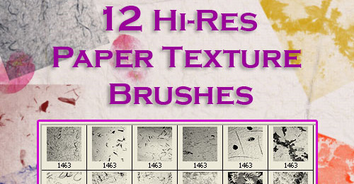 Free Paper Texture Brushes