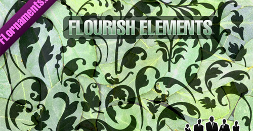 free vector flourish set
