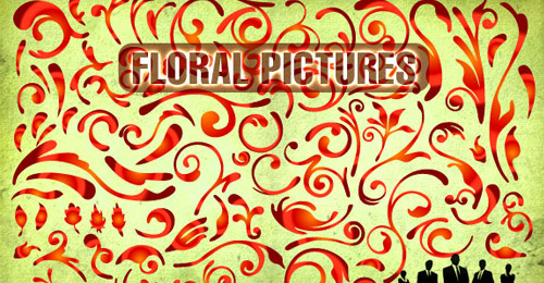 floral pictures vector