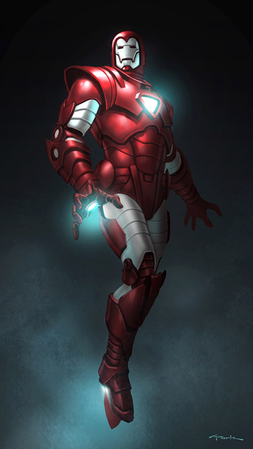 old iron man red