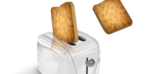toaster popping illustrator