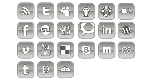 vector social networking icons