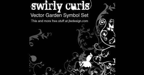 symbols curls vector