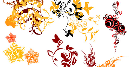 swirl flower vector