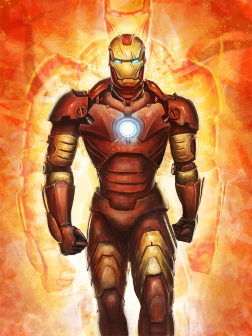walking iron man