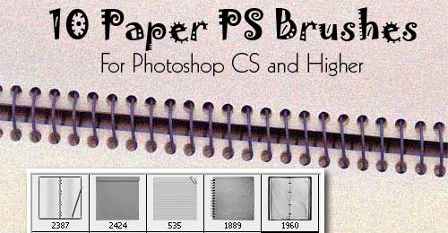 free paper brushes photoshop