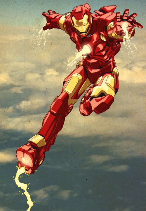 iron man pose