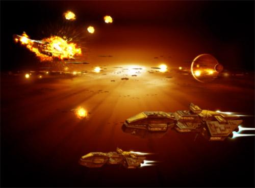 space battle illustration
