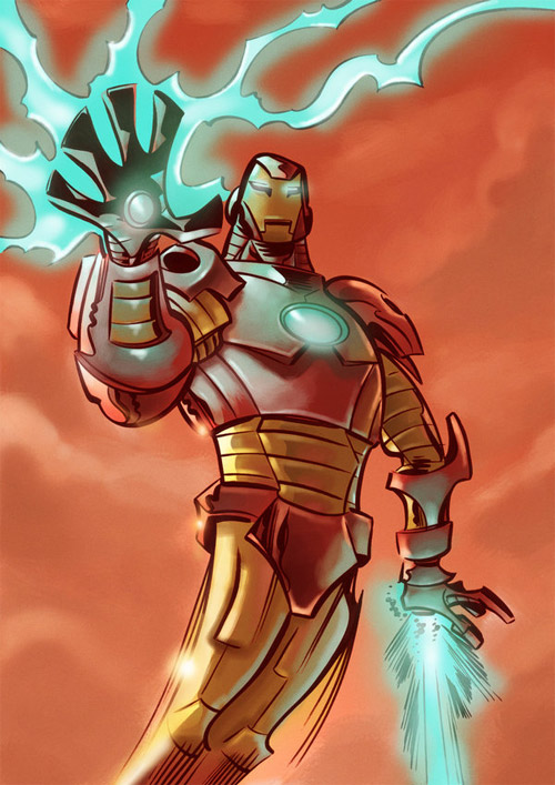 iron man cartoon