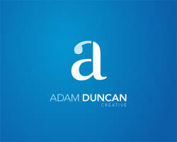 Adam Duncan Creative Blue Logo