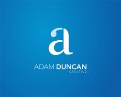 Adam Duncan Creative Blue Logo