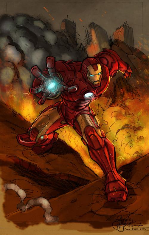 iron man drawin