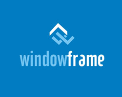 window frame blue logo