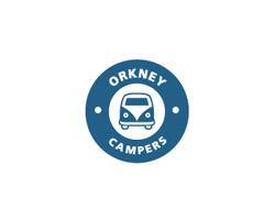Blue Logo Orkney Campers
