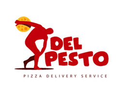 Del Pesto Red Logo