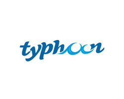 Typhoon Blue Logo Design