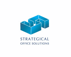 strategical blue logo design