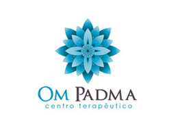 Om Padma Blue Logo Design