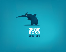 spear nose creature logo design