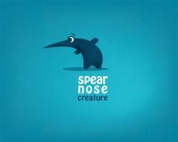 spear nose creature logo design