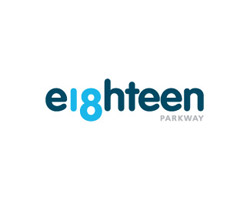 eighteen blue logo design