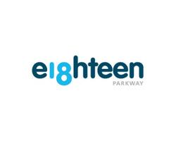 eighteen blue logo design