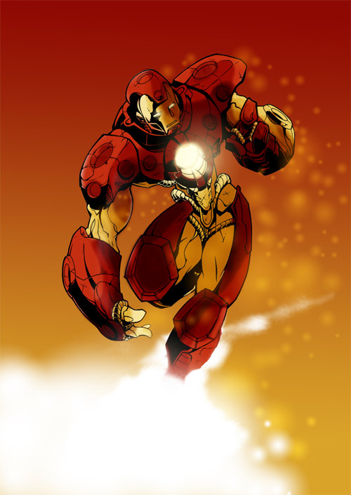 Iron man colored