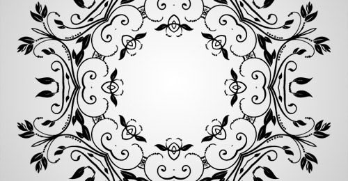 vector abstract floral decorative