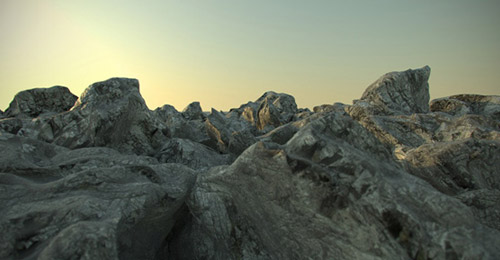 realistic rock v-ray