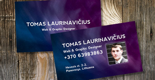 space business card photoshop tutorial