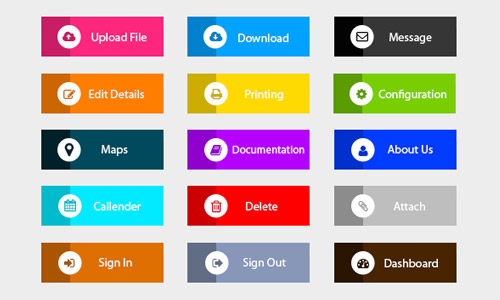 Ultimate Collection of Free Buttons in PSD Format | Naldz