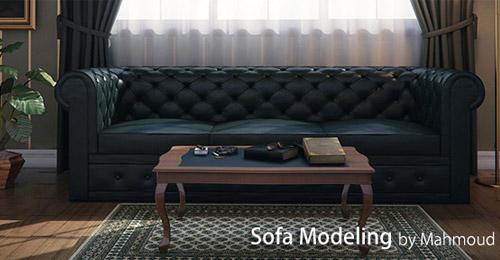 Sofa Modeling 3d Max