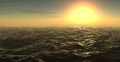 Sunset Scene 3d max