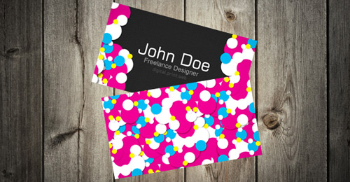 colorful vibrant business card