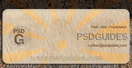 grunge business card tutorial