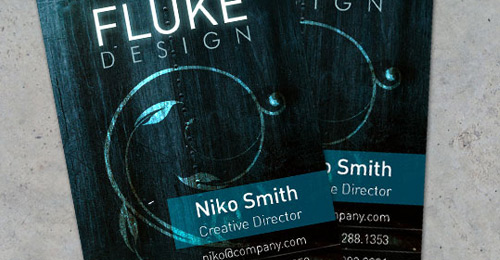 making grungy business card
