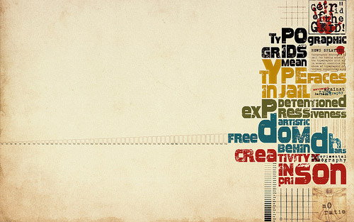 Typographic Grid wallpaper